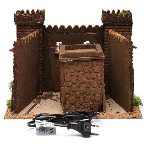 Castello con ponte levatoio in movimento 20x30x30 cm 4