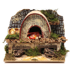 Fireplaces and ovens: Wood-fired oven for Nativity Scene 10x15x10 cm