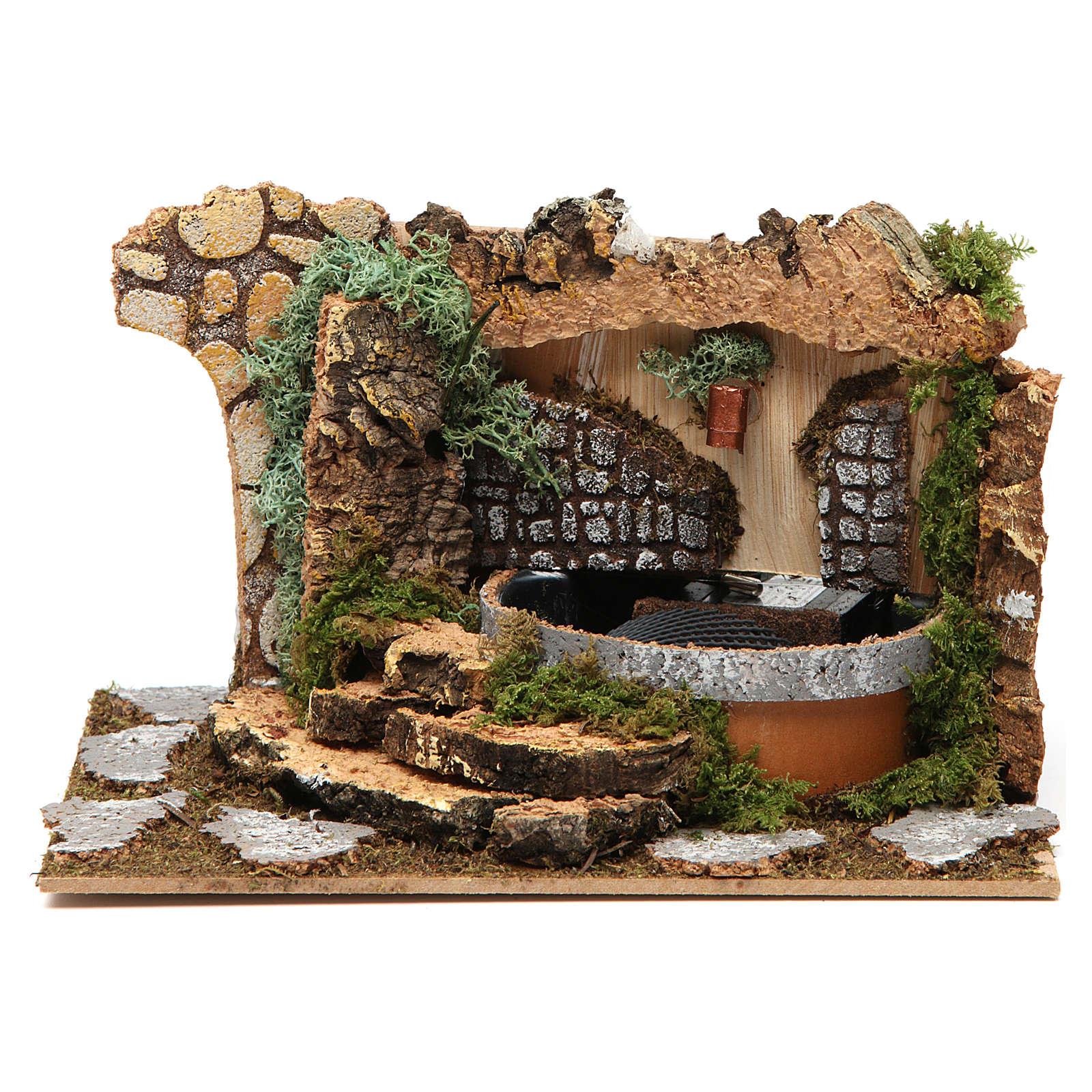 Fuente con rocas 10x20x15 cm 4