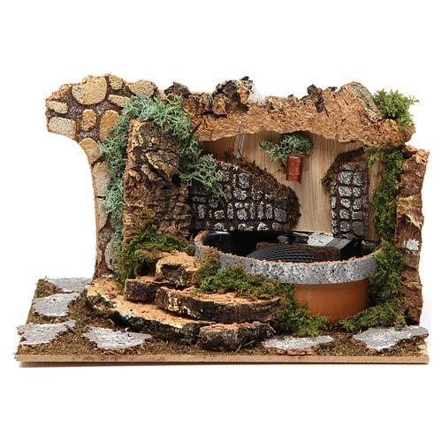 Fontana con rocce 10x20x15 cm 1