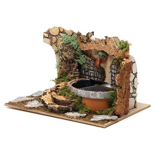Fontana con rocce 10x20x15 cm 2