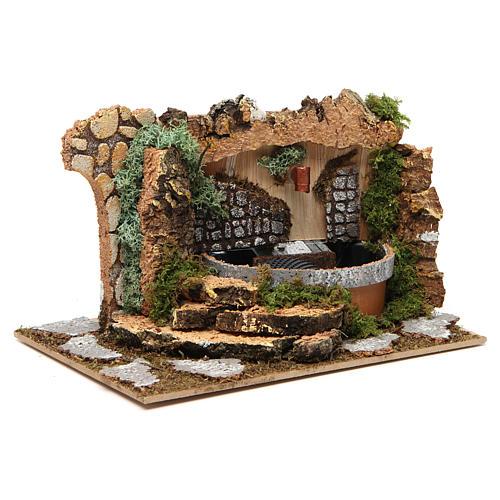 Fontana con rocce 10x20x15 cm 3