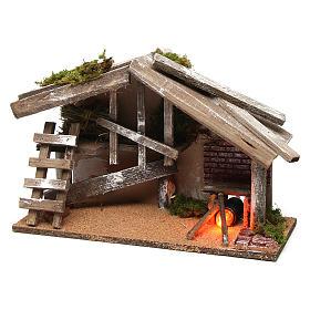 Capanna in legno con forno 25x35x15 cm s2