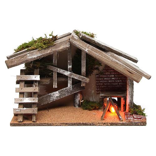 Capanna in legno con forno 25x35x15 cm 1
