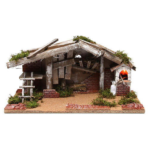 Barn with oven 25x50x25 cm 1
