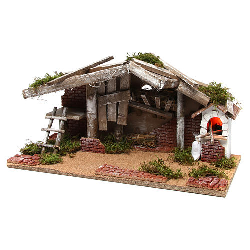 Barn with oven 25x50x25 cm 2