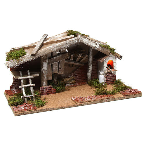 Barn with oven 25x50x25 cm 3
