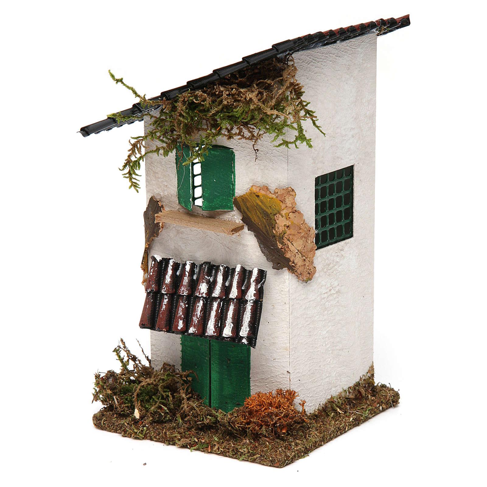 Casa rustica con tettoia 15x10x10 cm 4
