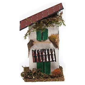 Casa rustica con tettoia 15x10x10 cm s1