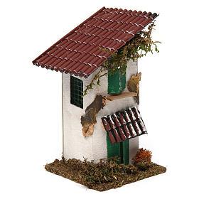 Casa rustica con tettoia 15x10x10 cm s3