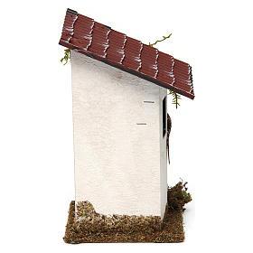 Casa rustica con tettoia 15x10x10 cm s4
