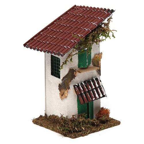 Casa rustica con tettoia 15x10x10 cm 3