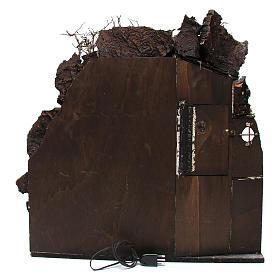 Aldea con chimenea EFECTO FUMO para belén Nápoles de 8-10-12 cm de altura media 65x60x40 cm s6