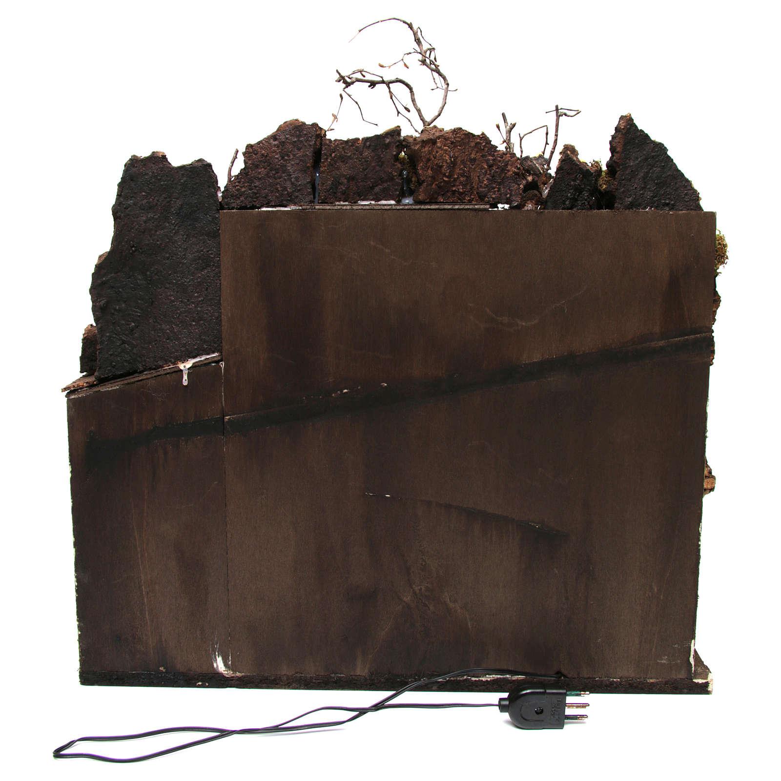 Aldea con luz para belén napolitano de 6-8 cm de altura media 45x50x40 cm 4