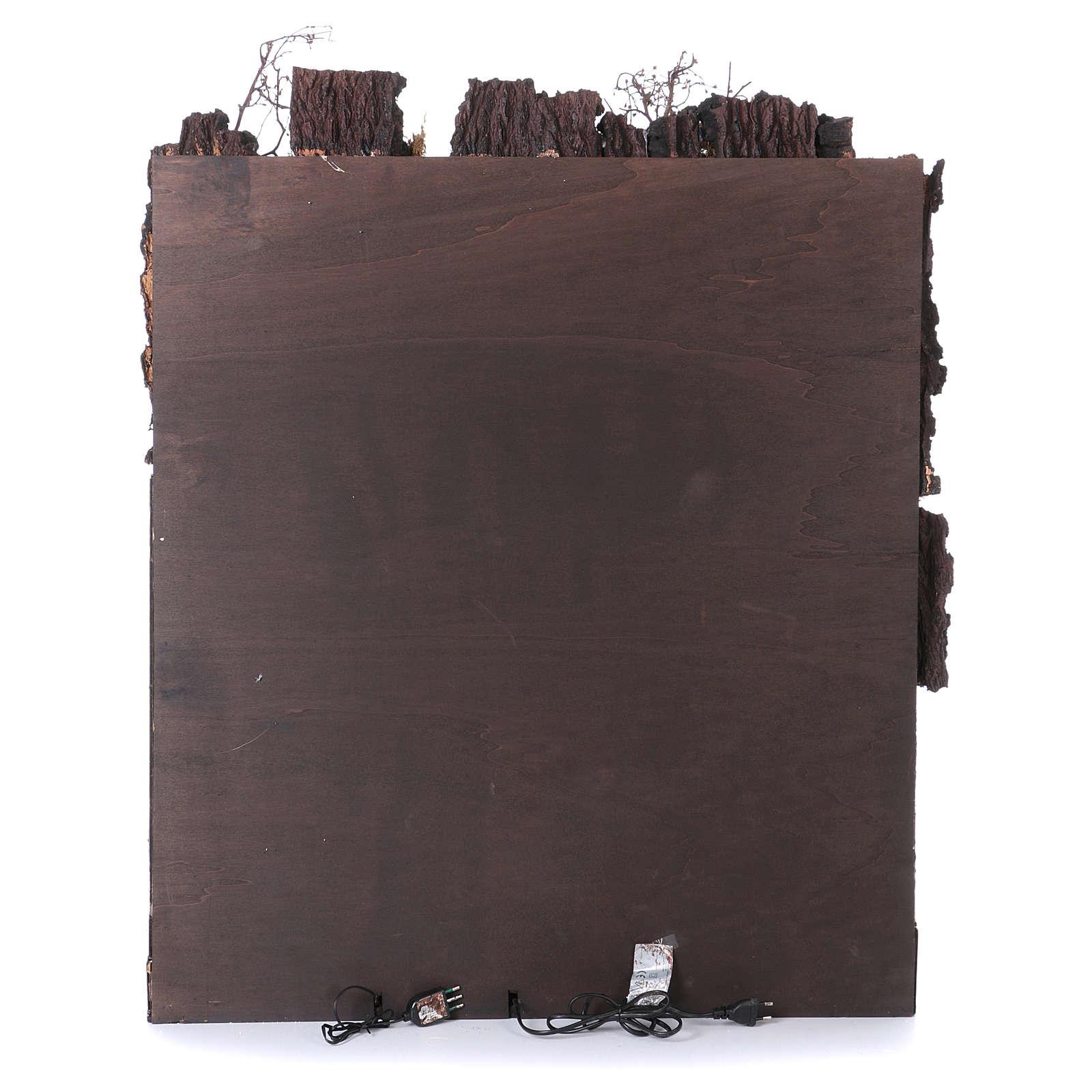 Casolare con mulino ad acqua presepe di Napoli di 10-12-14 cm 100x80x60 cm 4