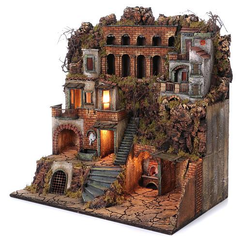 Abgelegenes Landhaus mit Brünnlein, für neapolitanische Krippe, 80x80x50 cm 2