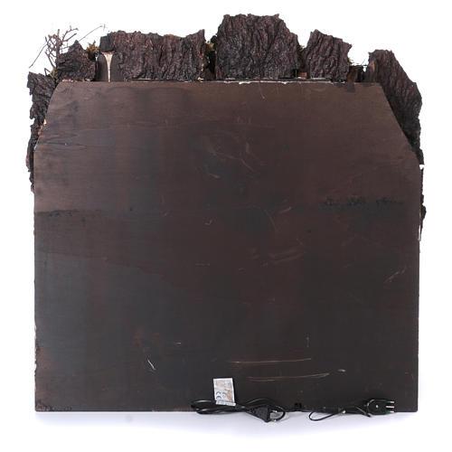 Caserío con fuente y horno para belén napolitano de 10-12-14 cm de altura media 80x80x50 cm 4