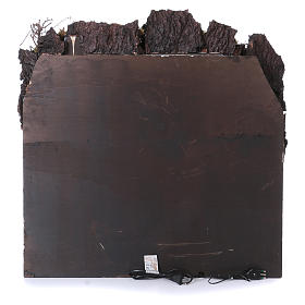 Casolare con fontanella e forno per presepe napoletano di 10-12-14 cm 80x80x50 cm s4