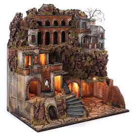 Cottages with Standpipe and Oven for Neapolitan nativity of 10-12-14 cm 80x80x50 cm s3