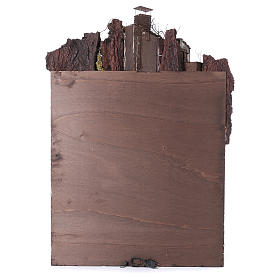 Caserío con chimenea y EFECTO FUMO belén de 10-12-14 cm de altura media de Nápoles 120x80x60 cm s6