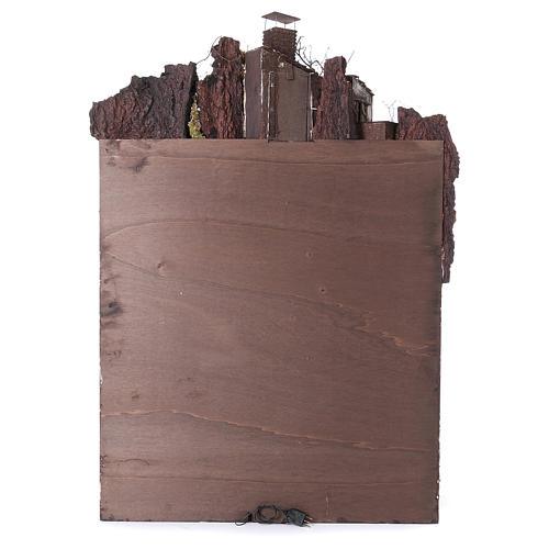 Caserío con chimenea y EFECTO FUMO belén de 10-12-14 cm de altura media de Nápoles 120x80x60 cm 6