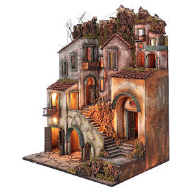 Rustic Town for nativity of 10-12-14 cm from Naples 110x80x60 cm s2