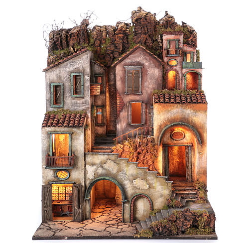 Rustic Town for nativity of 10-12-14 cm from Naples 110x80x60 cm 1