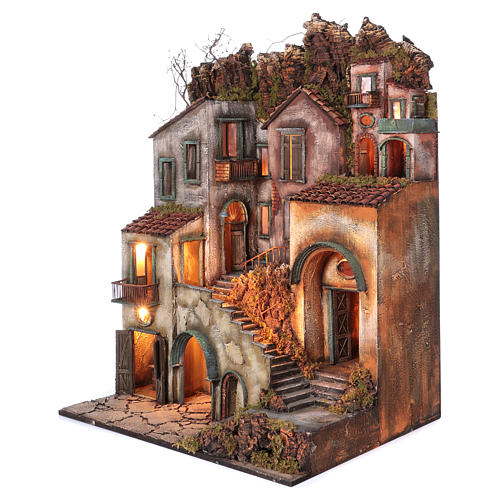 Rustic Town for nativity of 10-12-14 cm from Naples 110x80x60 cm 2