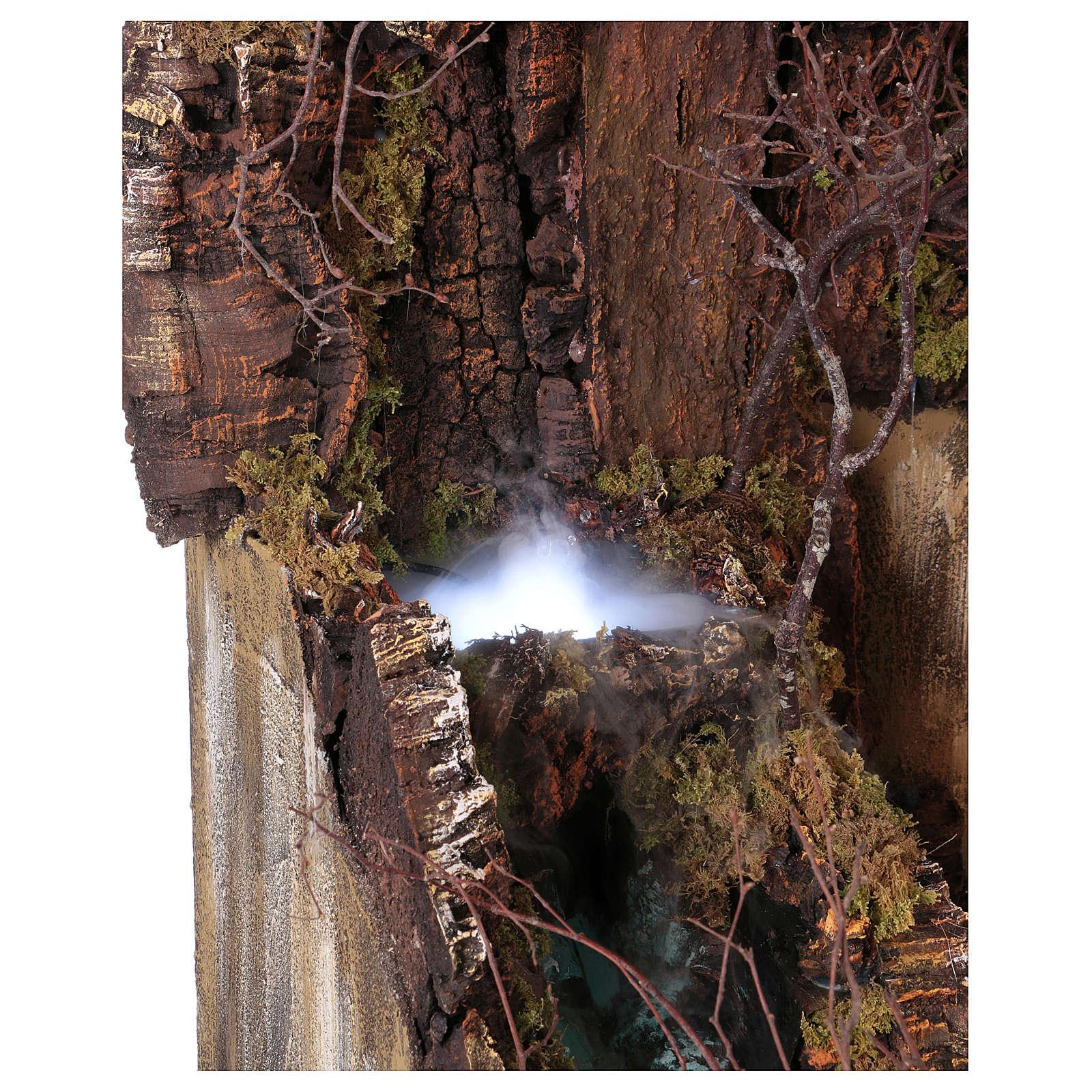 Ambientación para belén Nápoles d 10-12-14 cm de altura media cascada y EFECTO NIEBLA 105x80x60 cm 4