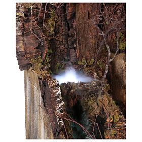 Décor crèche de Naples de 10-12-14 cm avec chute d'eau et EFFET BROUILLARD 105x80x60 cm s4