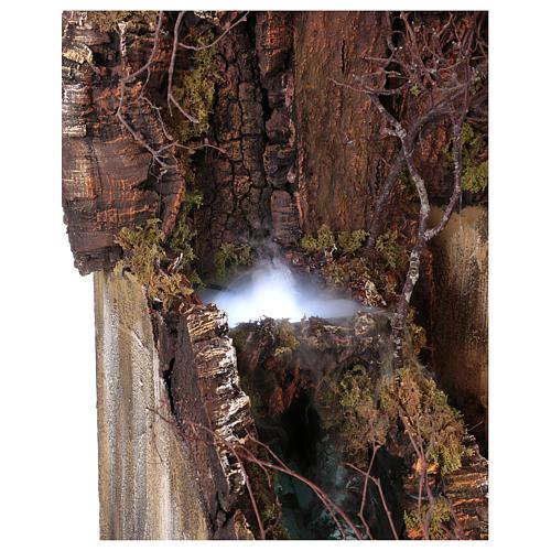 Décor crèche de Naples de 10-12-14 cm avec chute d'eau et EFFET BROUILLARD 105x80x60 cm 4