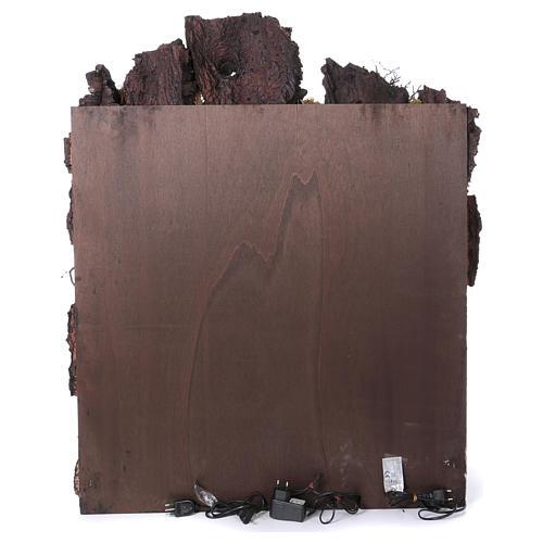 Ambientazione per presepe Napoli di 10-12-14 cm cascata e EFFETTO NEBBIA 105x80x60 cm 6