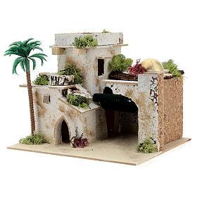 Casa en estilo árabe con palma y porche 20x25x20 cm s2