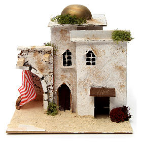 Nativity scene setting, Arab house with dome and doorways 20x25x20 cm s1