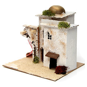 Nativity scene setting, Arab house with dome and doorways 20x25x20 cm s2