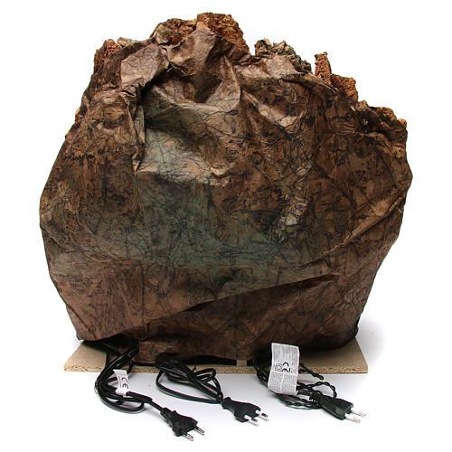 Borgo presepe grotta Natività castello fontana legno sughero 50X55X60 cm presepe napoletano 4