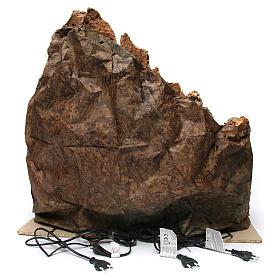 Belén iluminado de madera musgo corcho molino río horno 60x70x65 cm belén napolitano s4