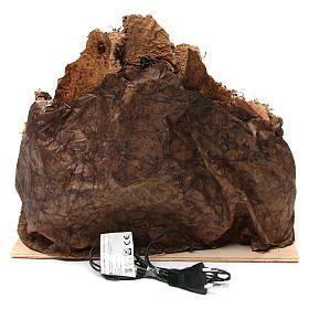Aldea belén napolitano iluminado con cueva 35x45x35 cm madera y corcho s4