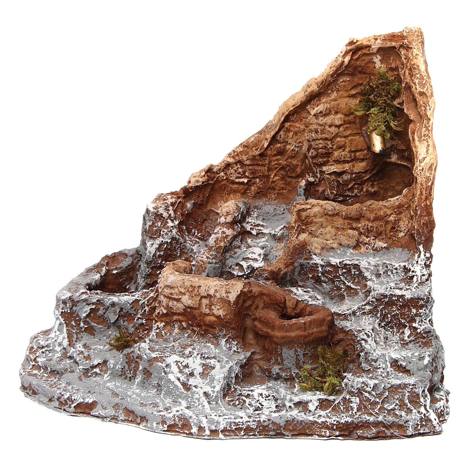 Fontana in resina sorgente 15X20X20 cm presepe napoletano 4