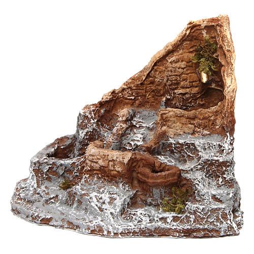 Fontana in resina sorgente 15X20X20 cm presepe napoletano 1