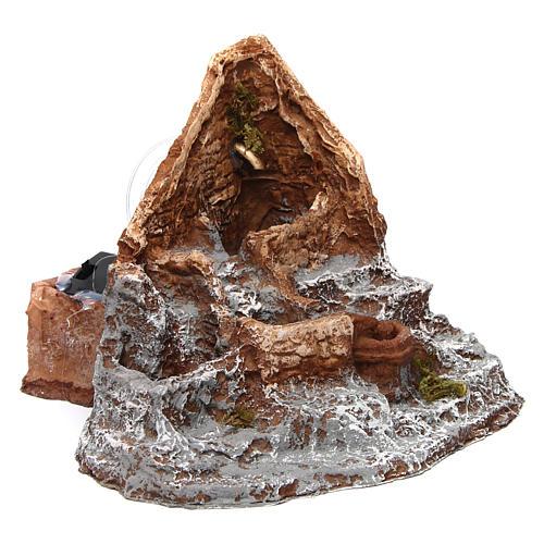 Fontana in resina sorgente 15X20X20 cm presepe napoletano 3