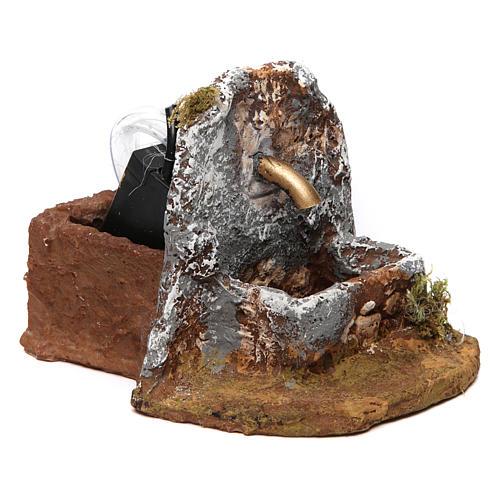 Fountain in resin for Neapolitan Nativity Scene 10x10x15 cm 3
