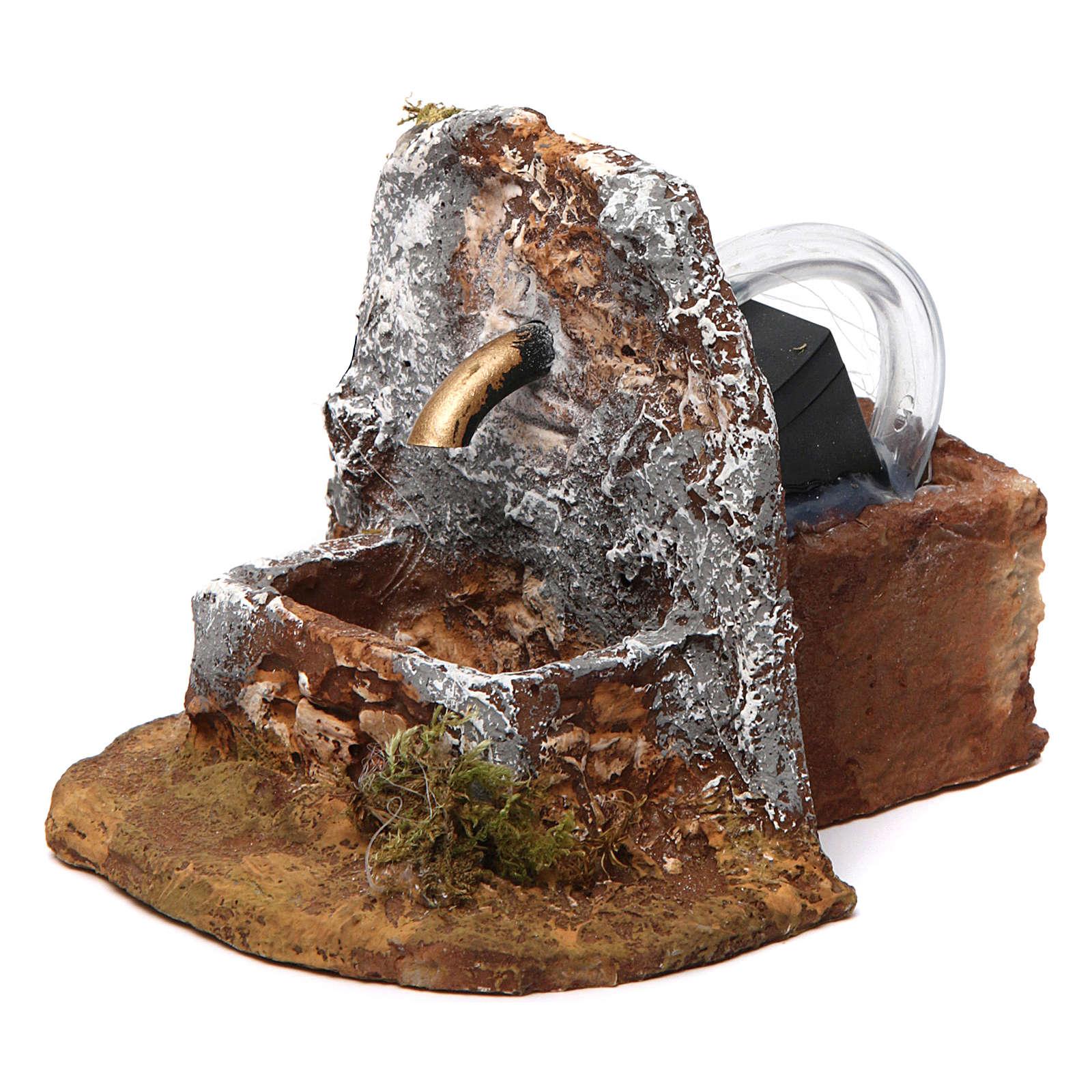 Fuente de resina 10x10x15 cm belén napolitano 4