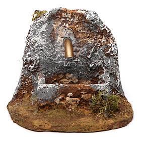 Fuente de resina 10x10x15 cm belén napolitano s1