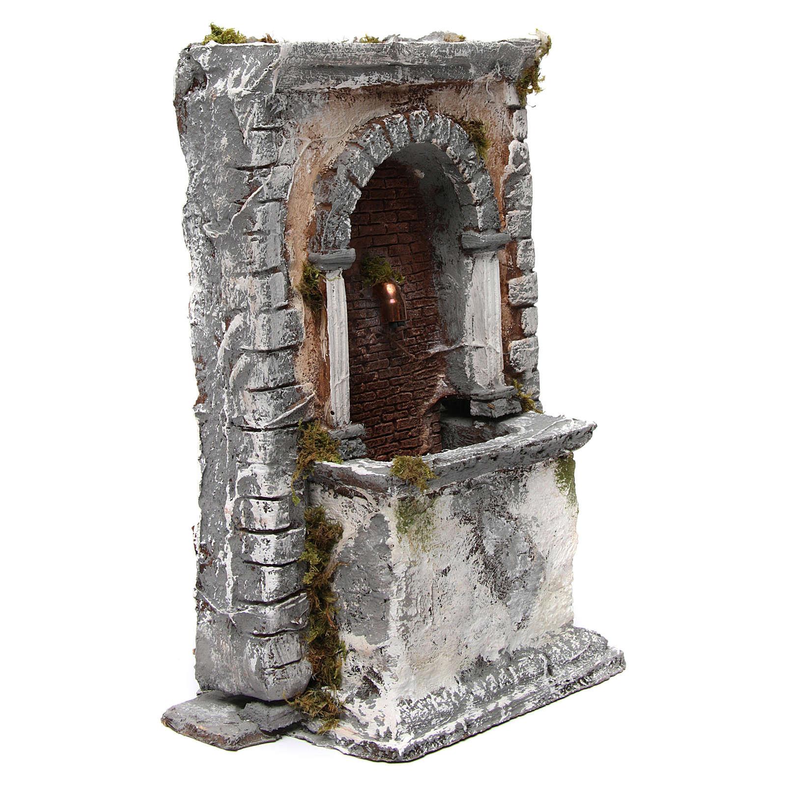 Fontana in resina a muro 35X25X20 cm presepe napoletano 4