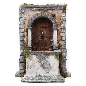 Fontana in resina a muro 35X25X20 cm presepe napoletano s1