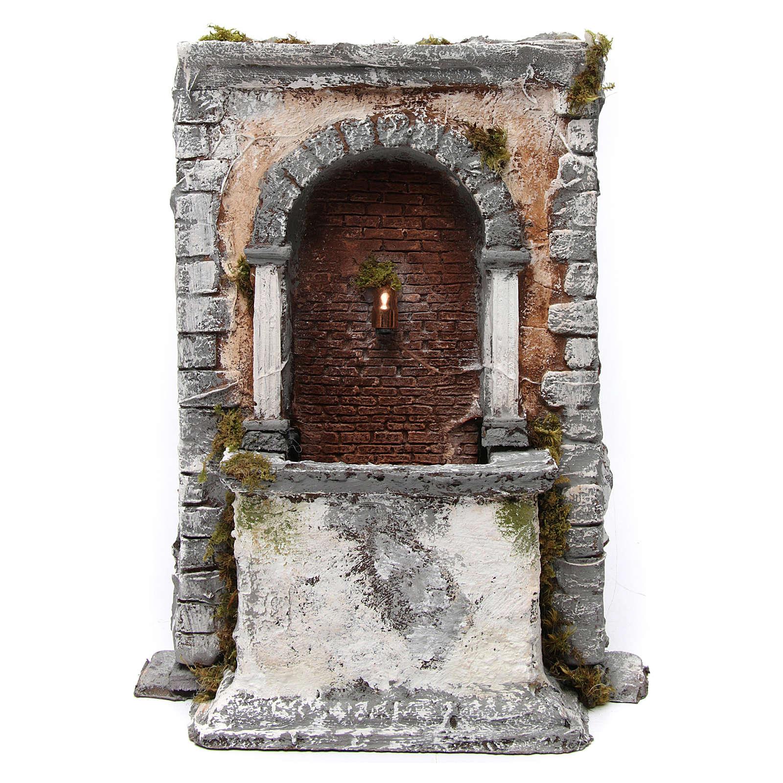 Wall Fountain in Resin 35X25X20 cm Neapolitan Nativity 4
