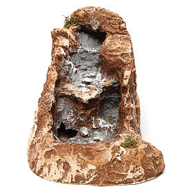 Ruscello di montagna in resina 10X15X25 cm presepe napoletano s1