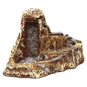 Arroyo con doble función cascada 25x40x25 cm de resina belén napolitano s3