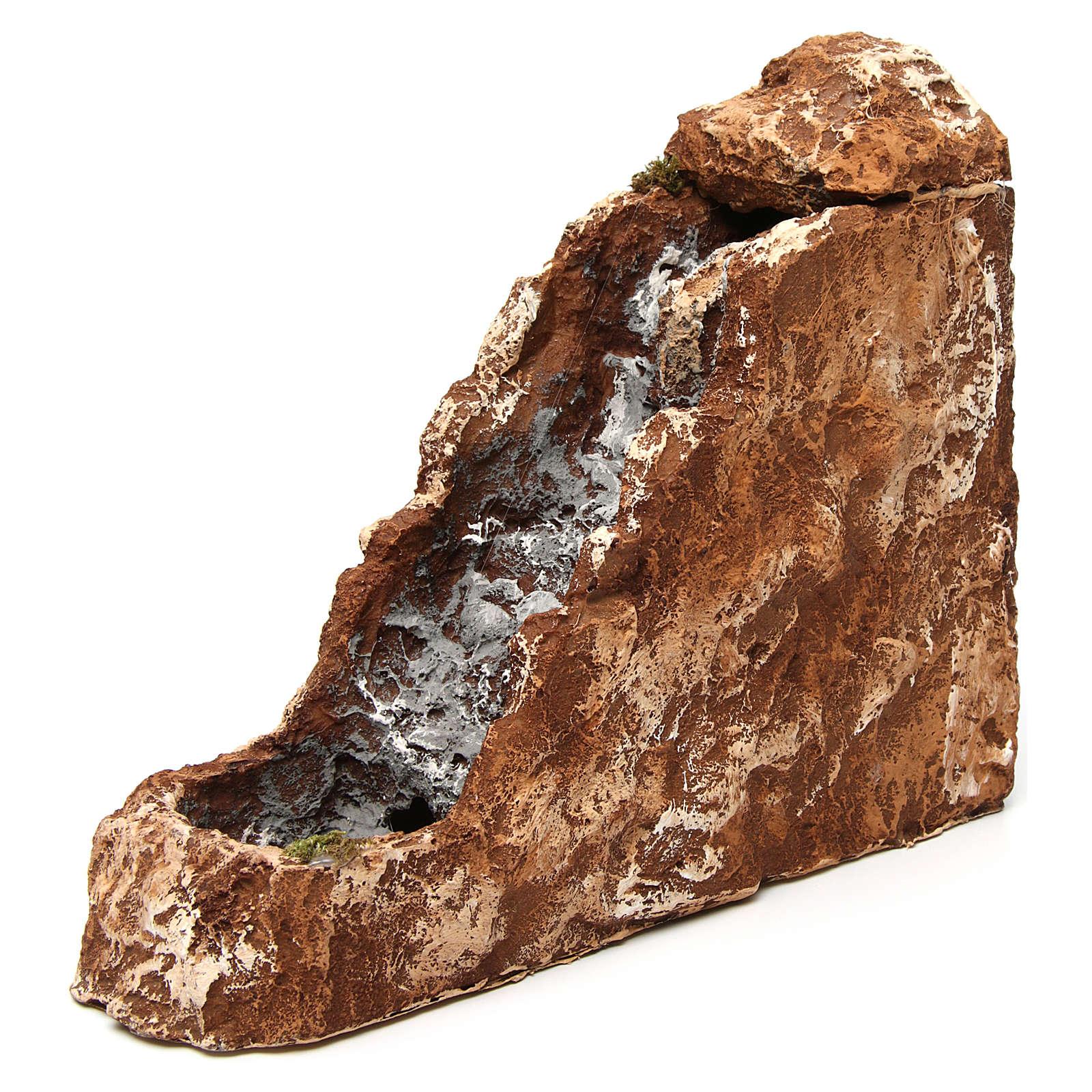 Ruscello con cascata 25x10x30 cm resina presepe napoletano 4